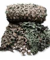 Pakket van 3x stuks leger camouflage netten 3 x 2 4 m