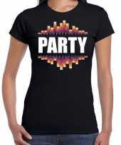 Party fun tekst t shirt zwart voor dames