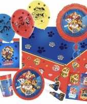 Paw patrol thema feestje versiering xl pakket 9 16 kinderen