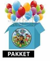 Paw patrol versieringspakket voor kinderfeestjes