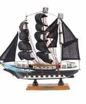 Piraten boot decoratie op voet 24 cm