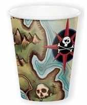 Piraten feestbekertjes 8 stuks