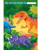 Prehistorie dinosausrus bekers 16 stuks