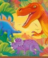 Prehistorie dinosausrus servetten 16 stuks
