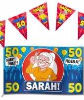 Set 50 jaar versiering banner en party vlaggetjes
