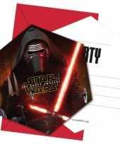 Star wars kinderfeestje uitnodigingen