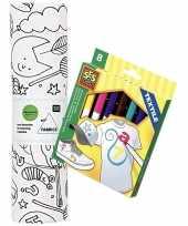 Stof om op te kleuren met textielstiften voor kinderen 10158239