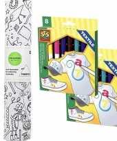 Stof om op te kleuren met textielstiften voor kinderen