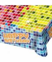 Tafelkleed happy birthday 130x80 cm
