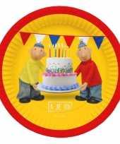 Verjaardags borden buurman en buurman 23 cm
