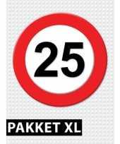 Verkeersbord 25 jaar versiering pakket xl