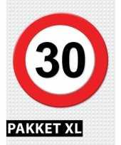 Verkeersbord 30 jaar versiering pakket xl