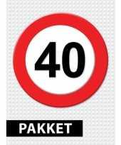 Verkeersbord 40 jaar versiering pakket