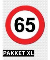 Verkeersbord 65 jaar versiering pakket xl