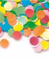 Zak gekleurde confetti 200 gram