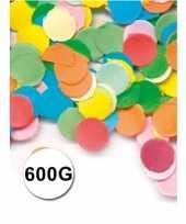 Zak gekleurde confetti 600 gram