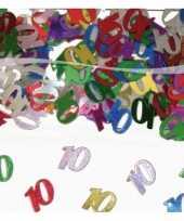 Zakje 10 jaar confetti