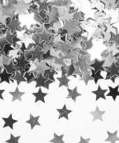 Zilveren sterretjes confetti versiering 14 gram