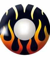 Zwarte ooglenzen met vlammen